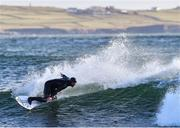 19 March 2020; Professional big wave surfer Ollie O'Flaherty during a training session at Lahinch Beach, Clare. Photo by Eóin Noonan/Sportsfile