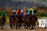 20 March 2020; Stamp of Authority, second from right, with Luke McAteer up, leads the field during the Crowne Plaza Dundalk Race & Stay Claiming Race at Dundalk Racecourse in Co Louth. Photo by Sam Barnes/Sportsfile