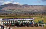 20 March 2020; A general view of the start of the Irishinjuredjockeys.com Handicap at Dundalk Racecourse in Co Louth. Photo by Sam Barnes/Sportsfile