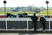 22 March 2020; Horses in the parade ring ahead of racing at Downpatrick Racecourse in Downpatrick, Down. Photo by Ramsey Cardy/Sportsfile