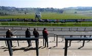 22 March 2020; Runners and riders during the WKD Rated Hurdle at Downpatrick Racecourse in Downpatrick, Down. Photo by Ramsey Cardy/Sportsfile