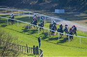 22 March 2020; Runners and riders during the Racing TV Handicap Hurdle at Downpatrick Racecourse in Downpatrick, Down. Photo by Ramsey Cardy/Sportsfile