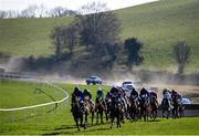 22 March 2020; Runners and riders during the Randox Ulster National Handicap Steeplechase at Downpatrick Racecourse in Downpatrick, Down. Photo by Ramsey Cardy/Sportsfile
