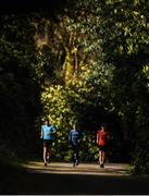 23 March 2020; Racewalkers Brendan Boyce, left, and David Kenny, right, with coach Rob Heffernan, centre, during a training session as Team Ireland Racewalkers Continue Olympic Preperations at Fota Island in Cork. Photo by Eóin Noonan/Sportsfile