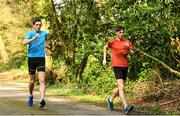 23 March 2020; Brendan Boyce, left, and David Kenny during a training session as Team Ireland Racewalkers Continue Olympic Preperations at Fota Island in Cork. Photo by Eóin Noonan/Sportsfile