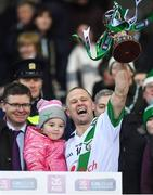 18 January 2020; Tommy Walsh of Tullaroan lifts the cup after the AIB GAA Hurling All-Ireland Intermediate Club Championship Final between Fr. O'Neill's and Tullaroan at Croke Park in Dublin. Photo by Piaras Ó Mídheach/Sportsfile