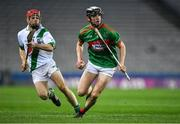 18 January 2020; Mike Millerick of Fr O'Neills in action against Tommy Walsh of Tullaroan during the AIB GAA Hurling All-Ireland Intermediate Club Championship Final between Fr. O'Neill's and Tullaroan at Croke Park in Dublin. Photo by Piaras Ó Mídheach/Sportsfile