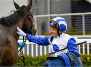 23 March 2020; Jockey Chris Hayes with Lemista after winning the Lodge Park Stud Irish EBF Park Express Stakes at Naas Racecourse in Naas, Co Kildare. Photo by Seb Daly/Sportsfile