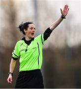 23 February 2020; Referee Maggie Farrelly during the 2020 Lidl Ladies National Football League Division 1 Round 4 match between Dublin and Galway at Dublin City University Sportsgrounds in Glasnevin, Dublin. Photo by Piaras Ó Mídheach/Sportsfile