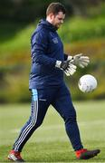 23 February 2020; Dublin goalkeeping coach Ryan O'Flaherty before the 2020 Lidl Ladies National Football League Division 1 Round 4 match between Dublin and Galway at Dublin City University Sportsgrounds in Glasnevin, Dublin. Photo by Piaras Ó Mídheach/Sportsfile