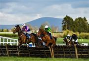 24 March 2020; Gone Racing, left, with Adam Short up, and Justfortherecord, right, with Niall Madden up, jump the last during the first circuit during the Money Back On The BoyleSports App Maiden Hurdle at Clonmel Racecourse in Clonmel, Tipperary. Photo by Seb Daly/Sportsfile