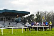 24 March 2020; A view of the field as they pass the grandstand prior to the start of the Play Lotto On The BoyleSports App Maiden Hurdle at Clonmel Racecourse in Clonmel, Tipperary. Photo by Seb Daly/Sportsfile