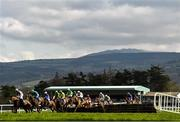 24 March 2020; A view of the field as they jump the fourth during the Extra Places On The BoyleSports App Handicap Hurdle at Clonmel Racecourse in Clonmel, Tipperary. Photo by Seb Daly/Sportsfile