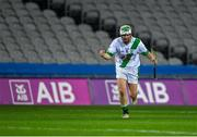 18 January 2020; Tullaroan captain Shane Walsh celebrates scoring the winning point in injury time during the AIB GAA Hurling All-Ireland Intermediate Club Championship Final between Fr. O'Neill's and Tullaroan at Croke Park in Dublin. Photo by Piaras Ó Mídheach/Sportsfile