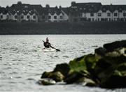 27 March 2020; Irish sprint canoeist Jenny Egan during a training session at Malahide Yacht Club in Dublin. Photo by Seb Daly/Sportsfile