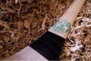 31 March 2020; A finished hurl sits in shavings ready to be sold at The Star Hurley in Jenkinstown, Kilkenny. Photo by Ramsey Cardy/Sportsfile