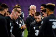 14 October 2019; Republic of Ireland manager Mick McCarthy during a Republic of Ireland training session at Stade de Genève in Geneva, Switzerland. Photo by Stephen McCarthy/Sportsfile