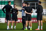18 November 2019; Manager Stephen Kenny speaks to players during a Republic of Ireland U21's squad training session at Tallaght Stadium in Dublin. Photo by Harry Murphy/Sportsfile