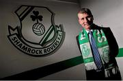 28 December 2011; Stephen Kenny after he was introduced as the new manager of Shamrock Rovers FC. Tallaght Stadium, Tallaght, Dublin. Photo by David Maher/Sportsfile