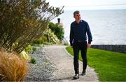9 April 2020; Republic of Ireland manager Stephen Kenny during an interview with RTÉ close to his home in Co Louth. Photo by Stephen McCarthy/Sportsfile