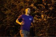 10 April 2020; Former Dundalk, Drogheda United, Bray Wanderers and current St Mochta's player Mick Daly, during his midnight run, aims to raise much-needed funds for Cystic Fibrosis Ireland. So as to reflect 65 Roses, Mick Daly along with others are taking part in a challenge - 6k run every 5 hours over the day. The 6k route in Riverwood / Carpenterstown area was first run on Friday at 12am then 5am, 10am, 3pm and final one at 8pm. Photo by Stephen McCarthy/Sportsfile