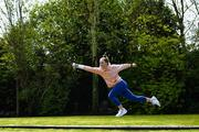 16 April 2020; Modern pentathlete Sive Brassil during a training session at her home in Ballinasloe, Galway. Photo by Ramsey Cardy/Sportsfile