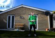 17 April 2020; Republic of Ireland and Shamrock Rovers midfielder Jack Byrne poses at his home, off Clonliffe Road, in Dublin. Photo by Stephen McCarthy/Sportsfile
