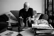 20 April 2020; (EDITORS NOTE: Image has been converted to black & white) Billy Morgan during a feature at his home on the South Douglas Road in Douglas, Cork. Photo by Eóin Noonan/Sportsfile