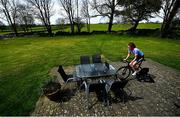 27 April 2020; Professional cyclist Imogen Cotter during a training session at her home in Ruan, Clare. Photo by David Fitzgerald/Sportsfile