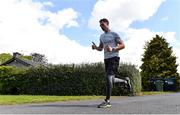 1 May 2020; Five Stewarts Staff members will run 150km in a day in a Race against the Sun. Each participant will complete a 5km run six times in a bid to franchise much needed funds for the support of Stewarts Service users. Pictured is Dublin footballer Dean Rock at Stewarts Care Campus in Dublin. Photo by Sam Barnes/Sportsfile