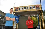 1 May 2020; Five Stewarts Staff members will run 150km in a day in a Race against the Sun. Each participant will complete a 5km run six times in a bid to franchise much needed funds for the support of Stewarts Service users. Pictured is participants Dublin footballer Dean Rock and member of the Dublin Fire Brigade Padraig Thompson at Stewarts Care Campus in Dublin. Photo by Harry Murphy/Sportsfile