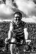 2 May 2020; (EDITOR'S NOTE; Image has been converted to Black and White) Ard Stiúrthóir of the GAA Tom Ryan takes part in the Croke Park Staff Cycle Challenge from his home in Dublin. Eight members of the Croke Park GAA staff team are tackling the 630km from Malin to Mizen Head in a 'static' cycle on their own turbo trainers. The eight cyclists will cover the 630km in 5 stages in 24 hours, from 7am on Saturday until 7am on Sunday. You can donate here; https://bit.ly/2z5EqFK and all proceeds raised will be for the frontline staff at the Mater Hospital.  Photo by Ray McManus/Sportsfile