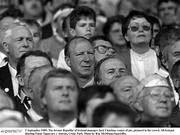 3 September 1989; The former Republic of Ireland manager Jack Charlton, centre of pic, pictured in the crowd. All-Ireland Hurling Final, Tipperary v Antrim, Croke Park. Photo by Ray McManus/Sportsfile