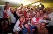 6 May 2001; The Bohemians team celebrate after winning the eircom league after victory over Kilkenny City, eircom league premier division, Kilkenny City v Bohemians, Soccer, Buckley Park, Co. Kilkenny. Photo by Matt Browne/Sportsfile