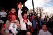 6 May 2001; Bohemians Manager Roddy Collins pictured at the end of the game. Eircom league trophy after victory over Kilkenny City, eircom league premier division, Kilkenny City v Bohemians, Soccer, Buckley Park, Co. Kilkenny. Photo by Damien Eagers/Sportsfile