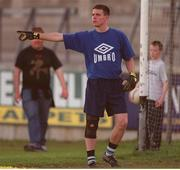 22 May 2001; Goalkeeper Stephen Cluxton during a Dublin Senior Football Training Session at Parnell Park in Dublin. Photo by Damien Eagers/Sportsfile