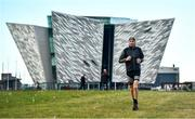 7 May 2020; Irish Olympic Marathon Runner Stephen Scullion during a training session at the Titanic Quarter in Belfast, Northern Ireland. Photo by David Fitzgerald/Sportsfile