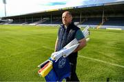 9 May 2020; Thurles groundsman Dave Hanley with pitchside flags on the evening of the Munster GAA Football Senior Championship quarter-final match between Tipperary and Clare at Semple Stadium in Thurles, Tipperary. This weekend, May 9 and 10, was due to be the first weekend of games in Ireland of the GAA All-Ireland Senior Championship, beginning with provincial matches, which have been postponed following directives from the Irish Government and the Department of Health in an effort to contain the spread of the Coronavirus (COVID-19). The GAA have stated that no inter-county games will take place before October 2020. Photo by Ray McManus/Sportsfile