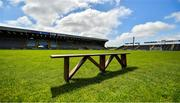 10 May 2020; An empty bench, usually reserved for team photographs, sits in the middle of Chadwicks Wexford Park on the afternoon of the Leinster GAA Football Senior Championship Round 1 match between Wexford and Wicklow at Chadwicks Wexford Park in Wexford. This weekend, May 9 and 10, was due to be the first weekend of games in Ireland of the GAA All-Ireland Senior Championship, beginning with provincial matches, which have been postponed following directives from the Irish Government and the Department of Health in an effort to contain the spread of the Coronavirus (COVID-19). The GAA have stated that no inter-county games will take place before October 2020. Photo by Seb Daly/Sportsfile