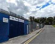 10 May 2020; A general view of the main gates at St Tiernach's Park on the afternoon of the Ulster GAA Football Senior Championship Preliminary Round match between Monaghan and Cavan at St Tiernach's Park in Clones, Monaghan. This weekend, May 9 and 10, was due to be the first weekend of games in Ireland of the GAA All-Ireland Senior Championship, beginning with provincial matches, which have been postponed following directives from the Irish Government and the Department of Health in an effort to contain the spread of the Coronavirus (COVID-19). The GAA have stated that no inter-county games will take place before October 2020. Photo by Brendan Moran/Sportsfile