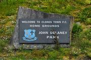 10 May 2020; A general view of John Delaney Park, home of Clones Town FC, in Clones in Monaghan. Photo by Brendan Moran/Sportsfile