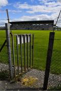 10 May 2020; A general view of Avantcard Páirc Seán MacDiarmada on the afternoon of the Connacht GAA Football Senior Championship Quarter-Final match between Leitrim and Mayo at Avantcard Páirc Seán MacDiarmada in Carrick-on-Shannon, Leitrim. This weekend, May 9 and 10, was due to be the first weekend of games in Ireland of the GAA All-Ireland Senior Championship, beginning with provincial matches, which have been postponed following directives from the Irish Government and the Department of Health in an effort to contain the spread of the Coronavirus (COVID-19). The GAA have stated that no inter-county games will take place before October 2020. Photo by Piaras Ó Mídheach/Sportsfile