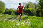 11 May 2020; Irish No.1 ranked tennis player and Davis Cup team member Simon Carr during a training session along the Royal Canal in Westmeath while adhering to the guidelines of social distancing set down by the Health Service Executive. Following directives from the Irish Government and the Department of Health the majority of the country's sporting associations have suspended all organised sporting activity in an effort to contain the spread of the Coronavirus (COVID-19). Photo by Seb Daly/Sportsfile