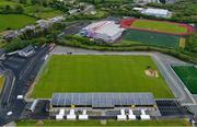 12 May 2020; A general view of O'Donnell Park in Letterkenny, a current COVID-19 Testing Centre. Following directives from the Irish Government and the Department of Health in an effort to contain the spread of the Coronavirus (COVID-19), the GAA have stated that no inter-county games will take place before October 2020. Photo by Stephen McCarthy/Sportsfile
