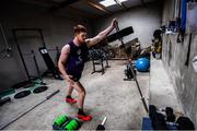 13 May 2020; Tyrone footballer Cathal McShane during a training session at his home in Tyrone, on his return from an ankle injury, while adhering to the guidelines of social distancing. Following directives from the Irish and British Governments, the majority of sporting associations have suspended all organised sporting activity in an effort to contain the spread of the Coronavirus (COVID-19) pandemic. Photo by Ramsey Cardy/Sportsfile