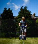 15 May 2020; Groundsman David Sloan lines the tennis lawns at Stratford Lawn Tennis Club in Rathmines, Dublin, as it prepares to re-open as one of the first sports allowed to resume having followed previous directives from the Irish Government on suspending all tennis activity in an effort to contain the spread of the Coronavirus (COVID-19). Tennis clubs in the Republic of Ireland can resume activity from May 18th under the Irish government's Roadmap for Reopening of Society and Business once they follow the protocol published by the Tennis Ireland. The protocol sets out safe measures for tennis to return in a phased manner. Photo by Stephen McCarthy/Sportsfile