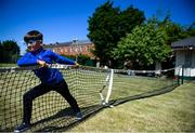 15 May 2020; Matthew Mc Glade, age 6, from Grosvenor Square, prepares the netting on the tennis lawns, under the supervision of his father Marc, a committee memeber, at Stratford Lawn Tennis Club in Rathmines, Dublin, as it prepares to re-open as one of the first sports allowed to resume having followed previous directives from the Irish Government on suspending all tennis activity in an effort to contain the spread of the Coronavirus (COVID-19). Tennis clubs in the Republic of Ireland can resume activity from May 18th under the Irish government's Roadmap for Reopening of Society and Business once they follow the protocol published by the Tennis Ireland. The protocol sets out safe measures for tennis to return in a phased manner. Photo by Stephen McCarthy/Sportsfile