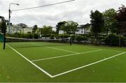 15 May 2020; A general view of a junior court at Malahide Lawn Tennis and Croquet Club in Dublin as it prepares to re-open as one of the first sports allowed to resume having followed previous directives from the Irish Government on suspending all tennis activity in an effort to contain the spread of the Coronavirus (COVID-19). Tennis clubs in the Republic of Ireland can resume activity from May 18th under the Irish government's Roadmap for Reopening of Society and Business once they follow the protocol published by Tennis Ireland. The protocol sets out safe measures for tennis to return in a phased manner. Photo by Brendan Moran/Sportsfile