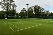 15 May 2020; A general view of Malahide Lawn Tennis and Croquet Club in Dublin as it prepares to re-open as one of the first sports allowed to resume having followed previous directives from the Irish Government on suspending all tennis activity in an effort to contain the spread of the Coronavirus (COVID-19). Tennis clubs in the Republic of Ireland can resume activity from May 18th under the Irish government's Roadmap for Reopening of Society and Business once they follow the protocol published by Tennis Ireland. The protocol sets out safe measures for tennis to return in a phased manner. Photo by Brendan Moran/Sportsfile