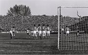 16 May 1980; Diego Maradona of Argentina takes a free kick during the International Friendly match between Republic of Ireland and Argentina at Lansdowne Road in Dublin. Photo by Ray McManus/Sportsfile